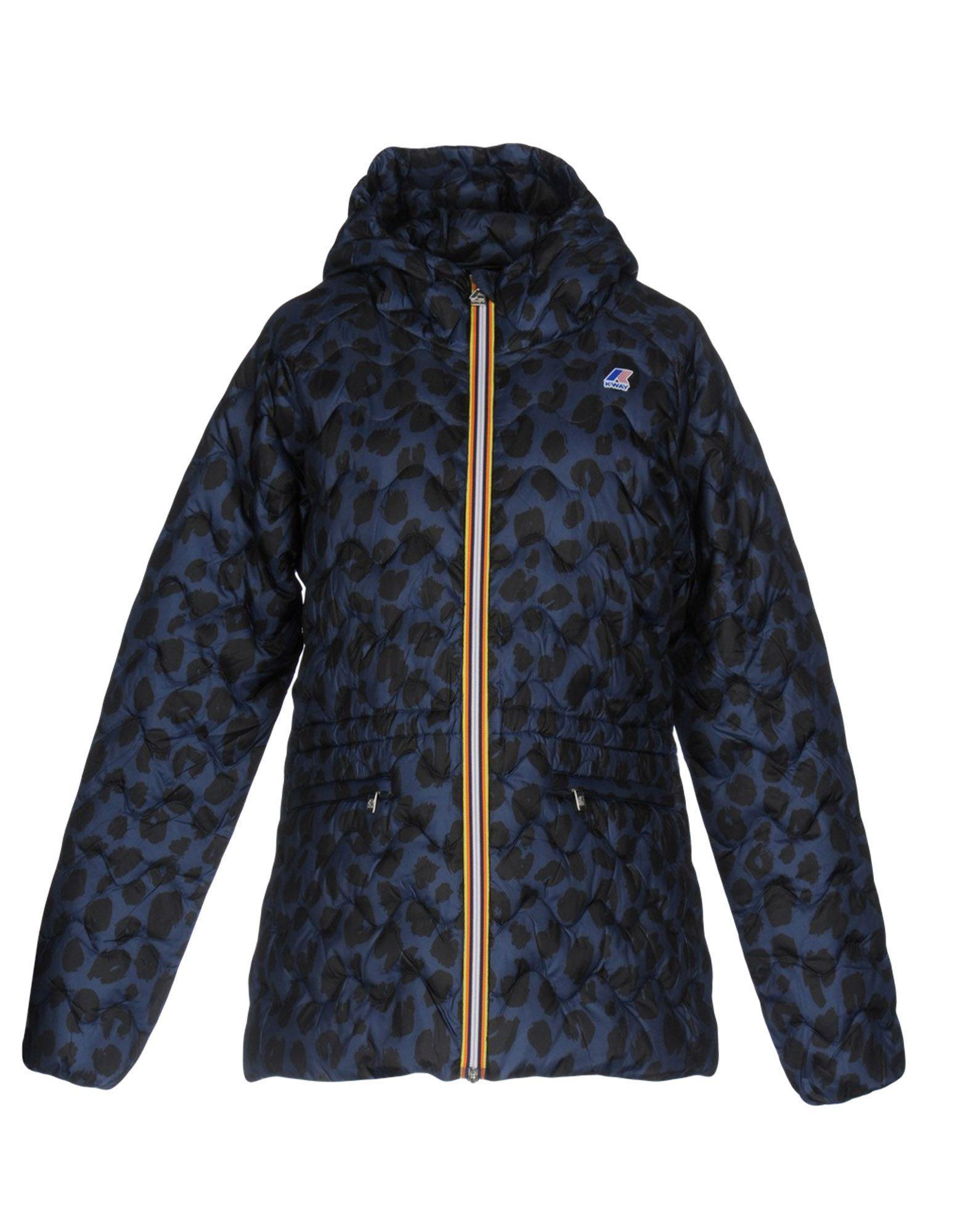 K-way Down Jacket In Slate Blue