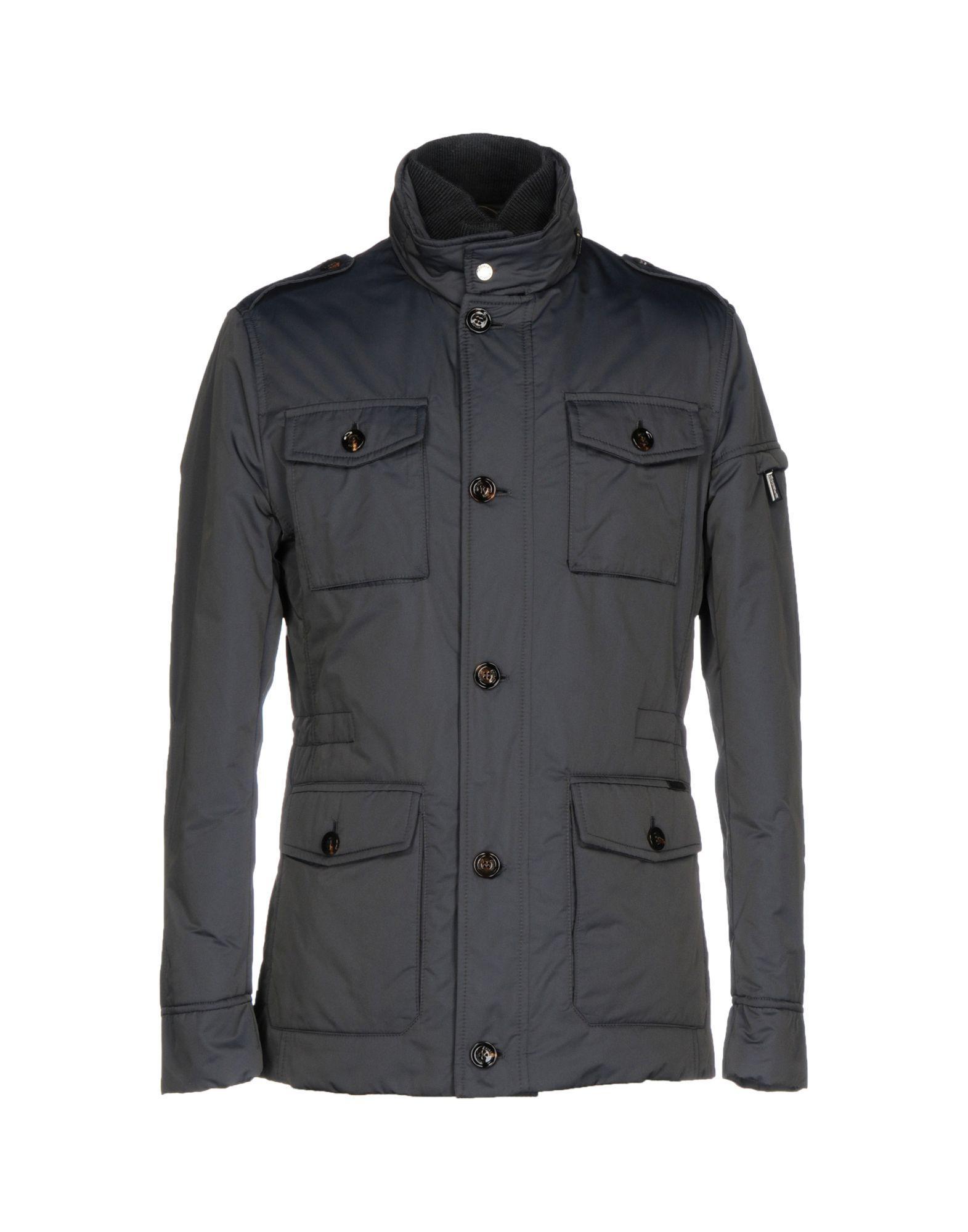 Moorer Down Jackets In Slate Blue