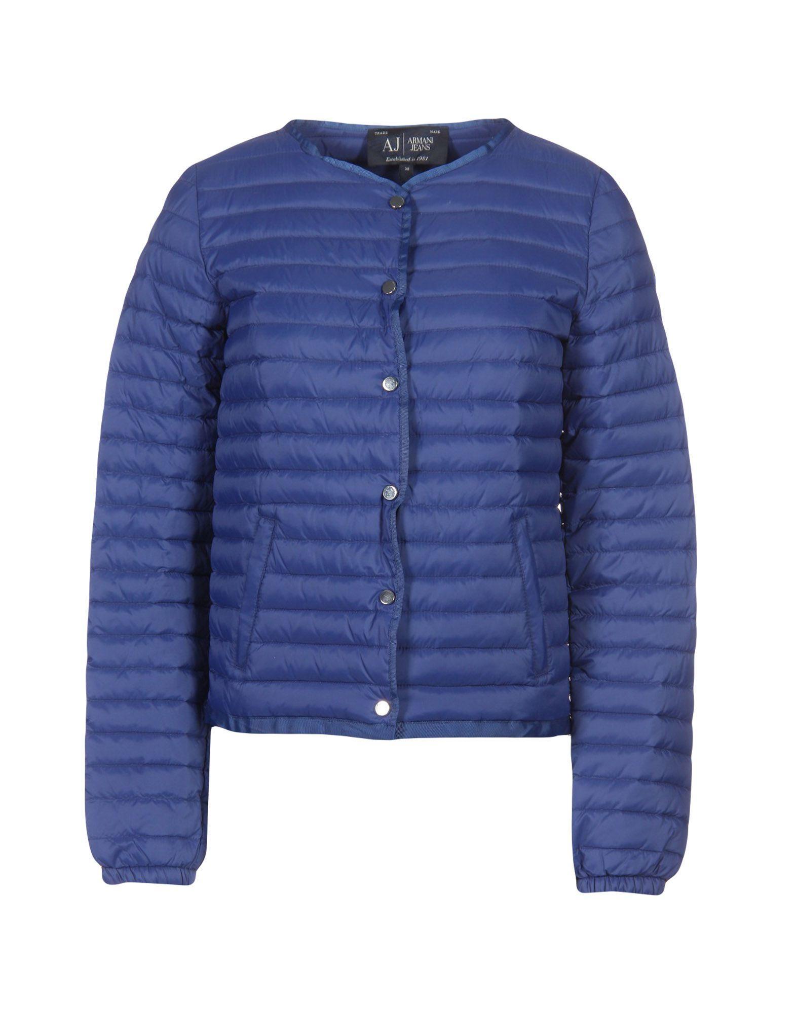 Armani Jeans Down Jackets In Blue