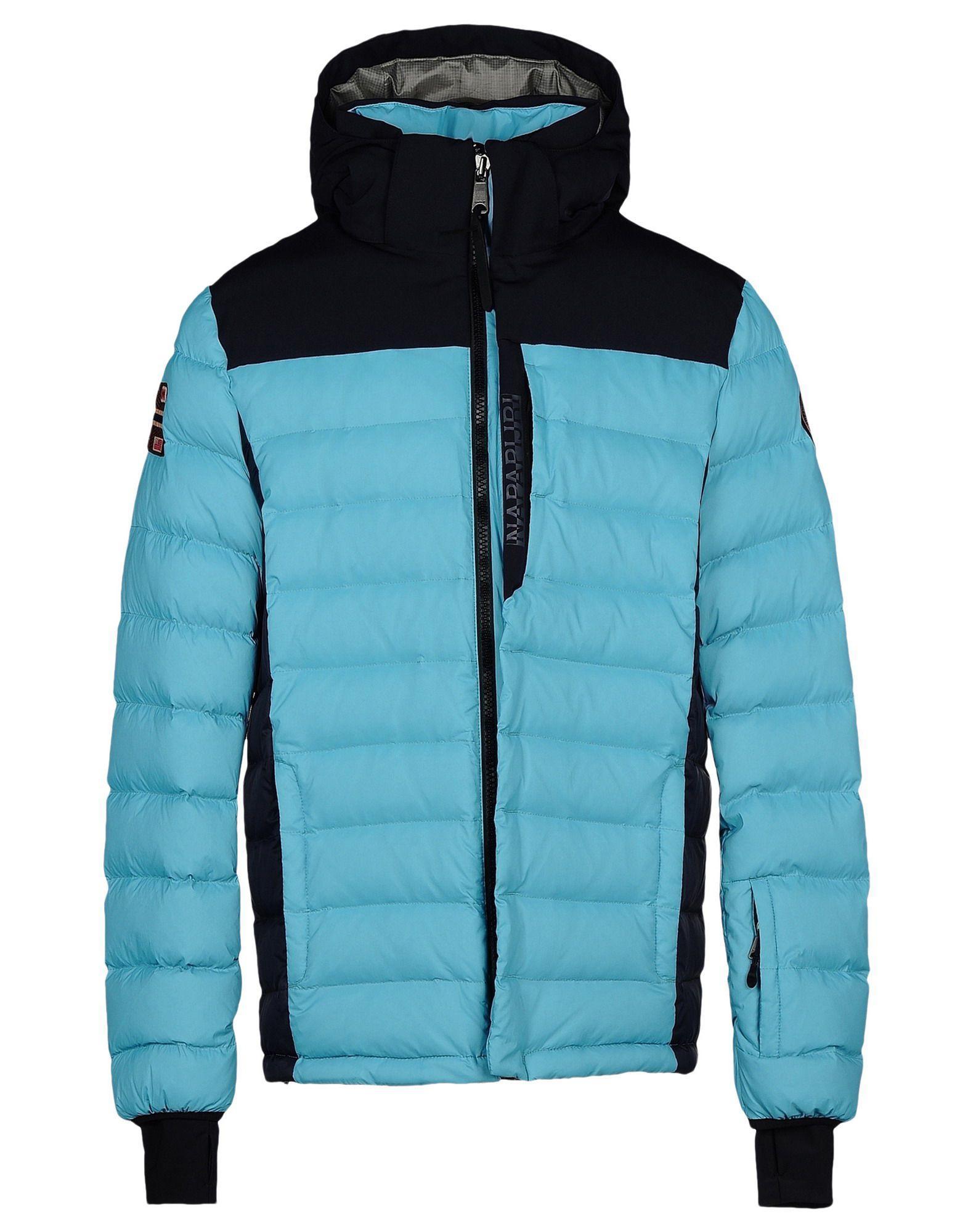 Napapijri Down Jackets In Turquoise