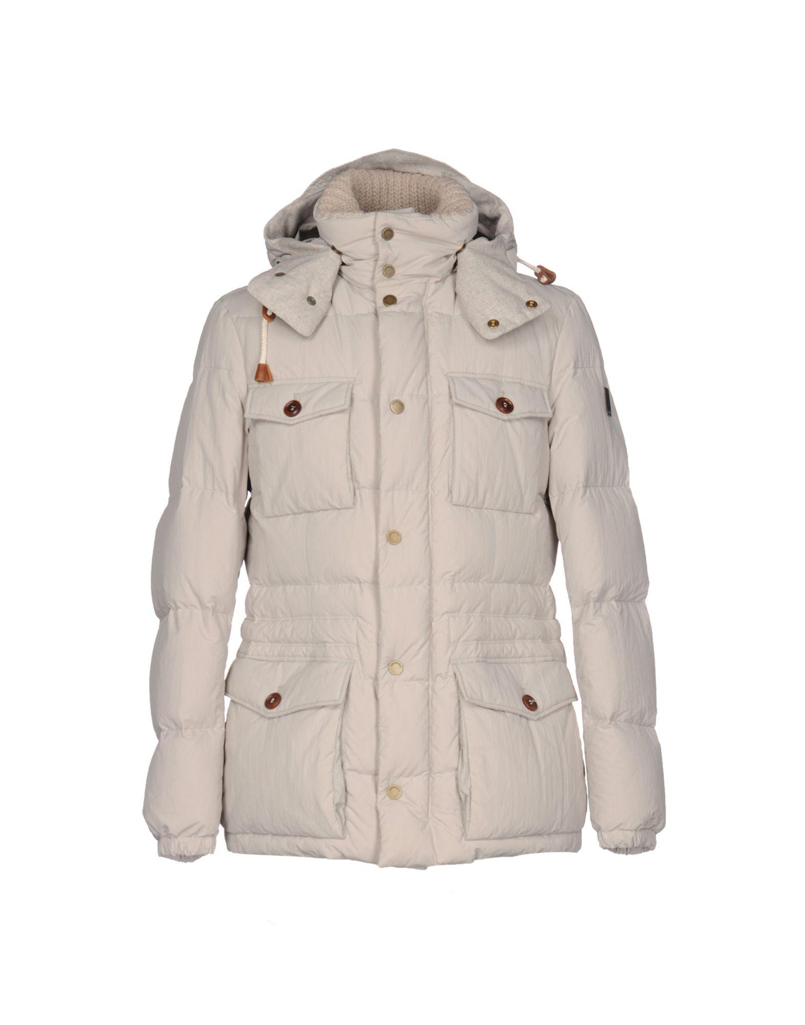 Geospirit Down Jackets In Light Grey