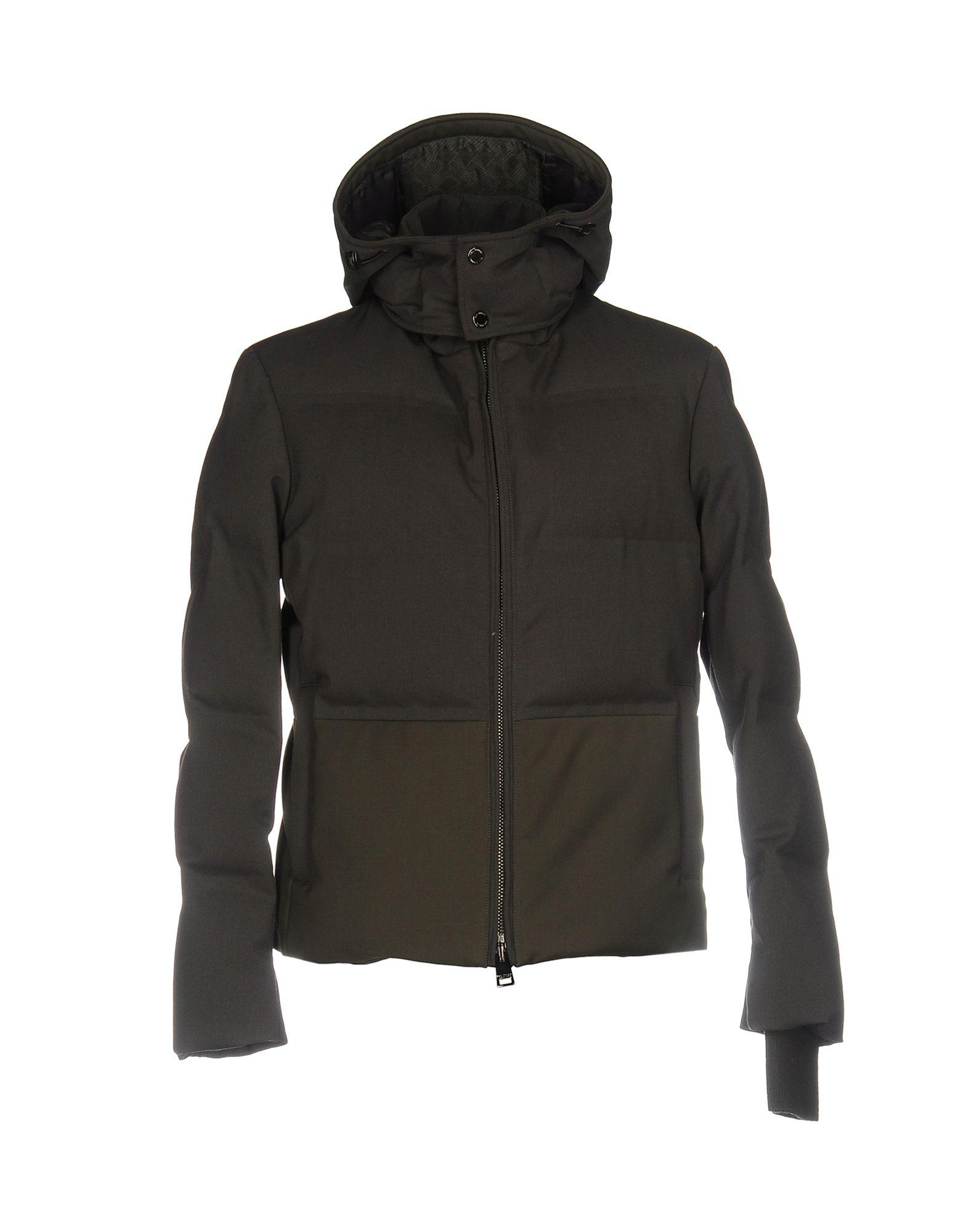 Pal Zileri Down Jackets In Military Green