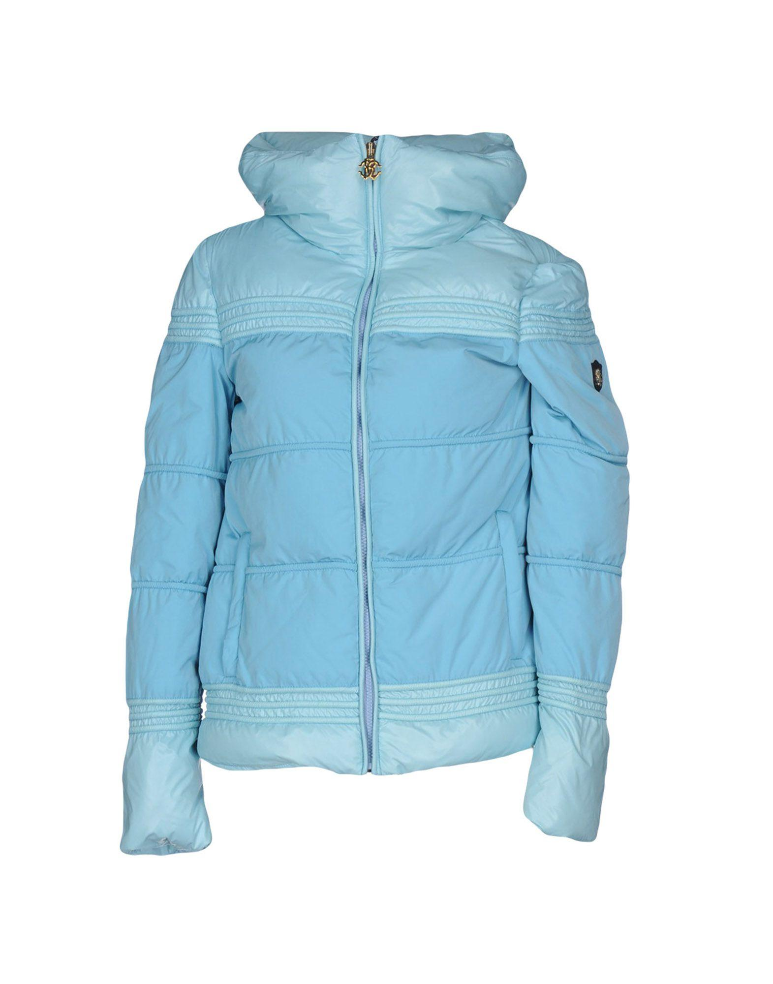 Roberto Cavalli Gym Down Jackets In Sky Blue