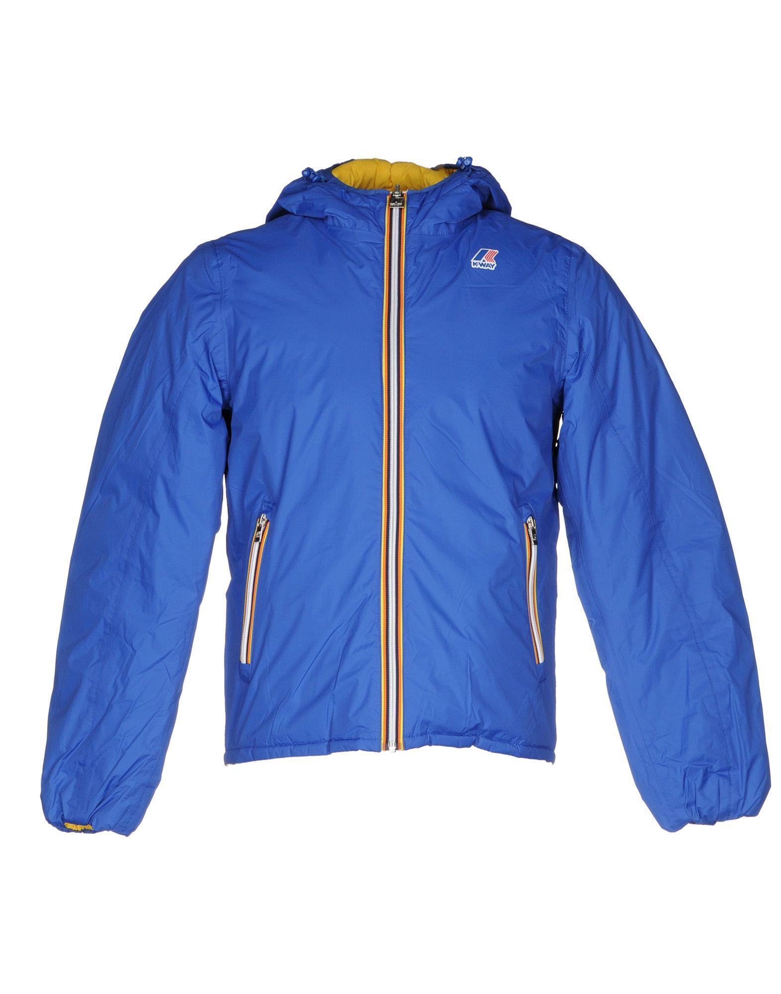 K-way Down Jacket In Blue