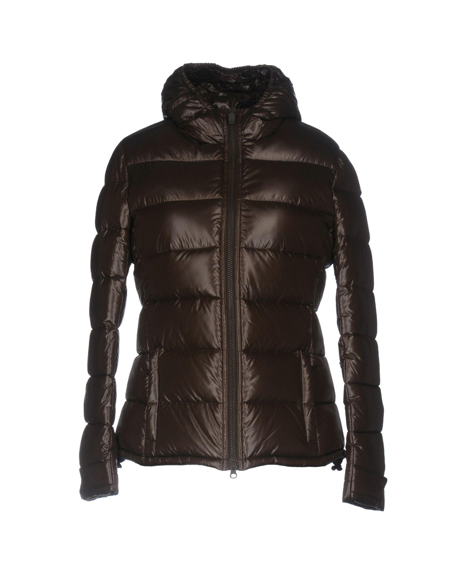 Aspesi Down Jackets In Dark Brown