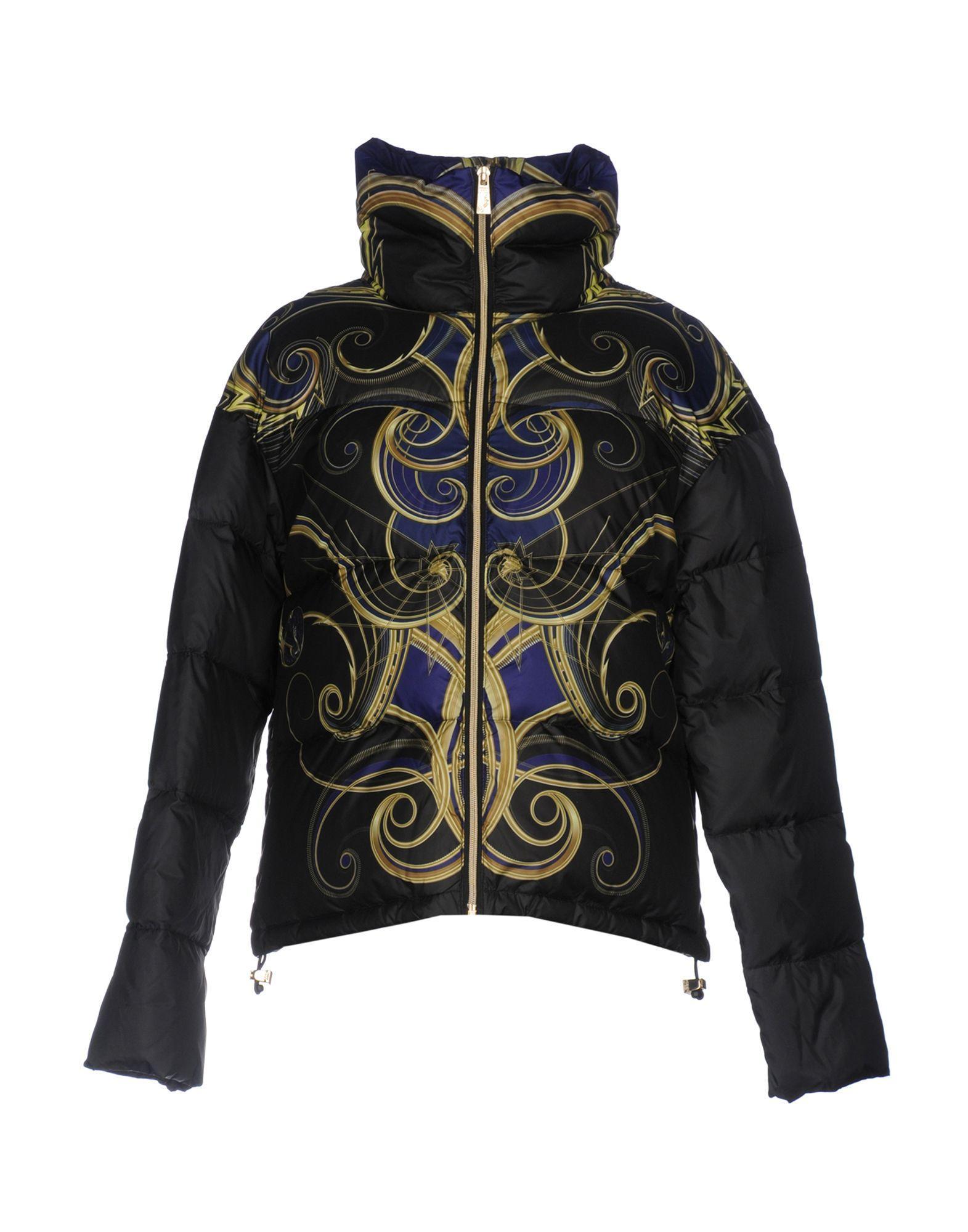 Versace Jeans Down Jacket In Black