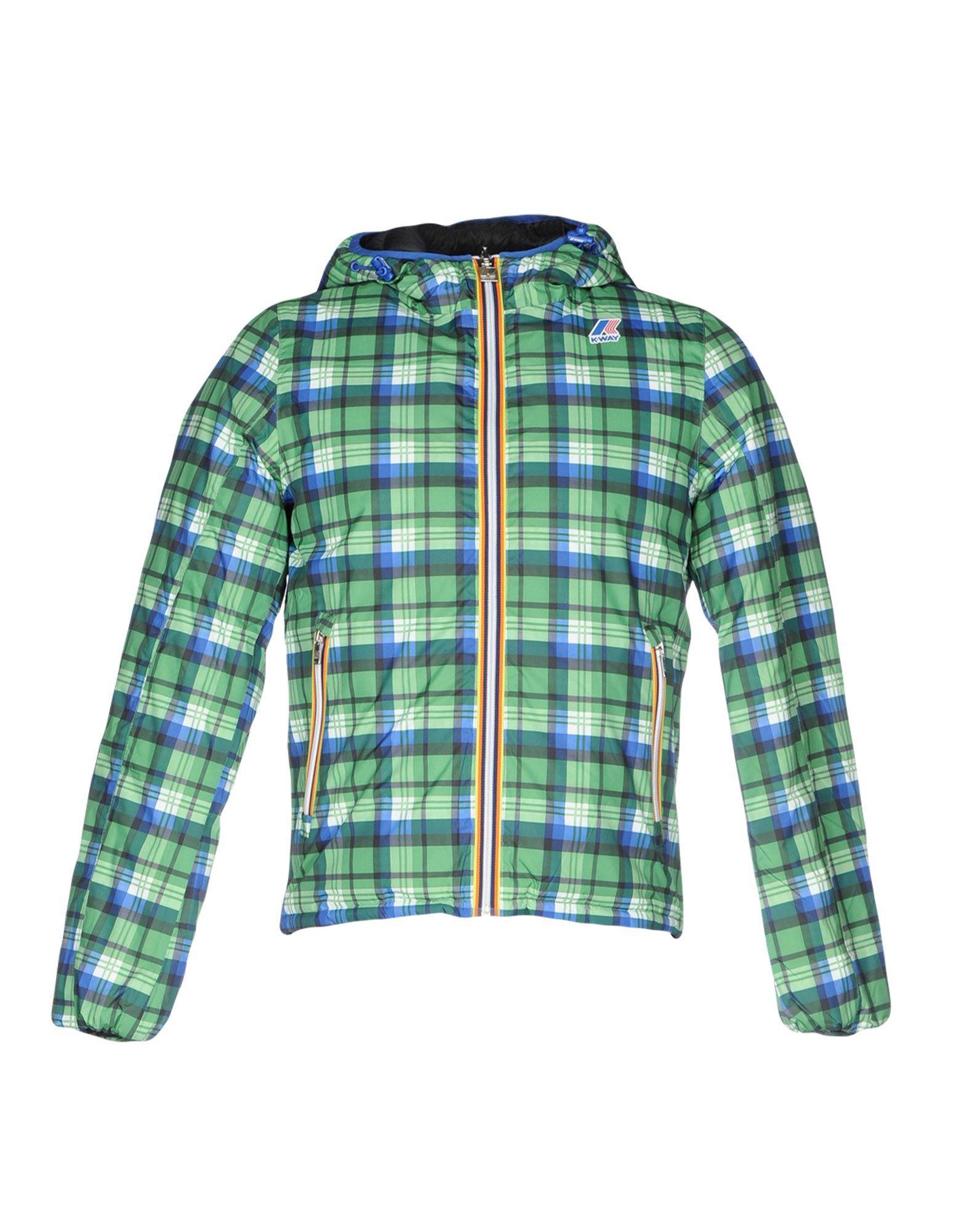 K-way Down Jacket In Green