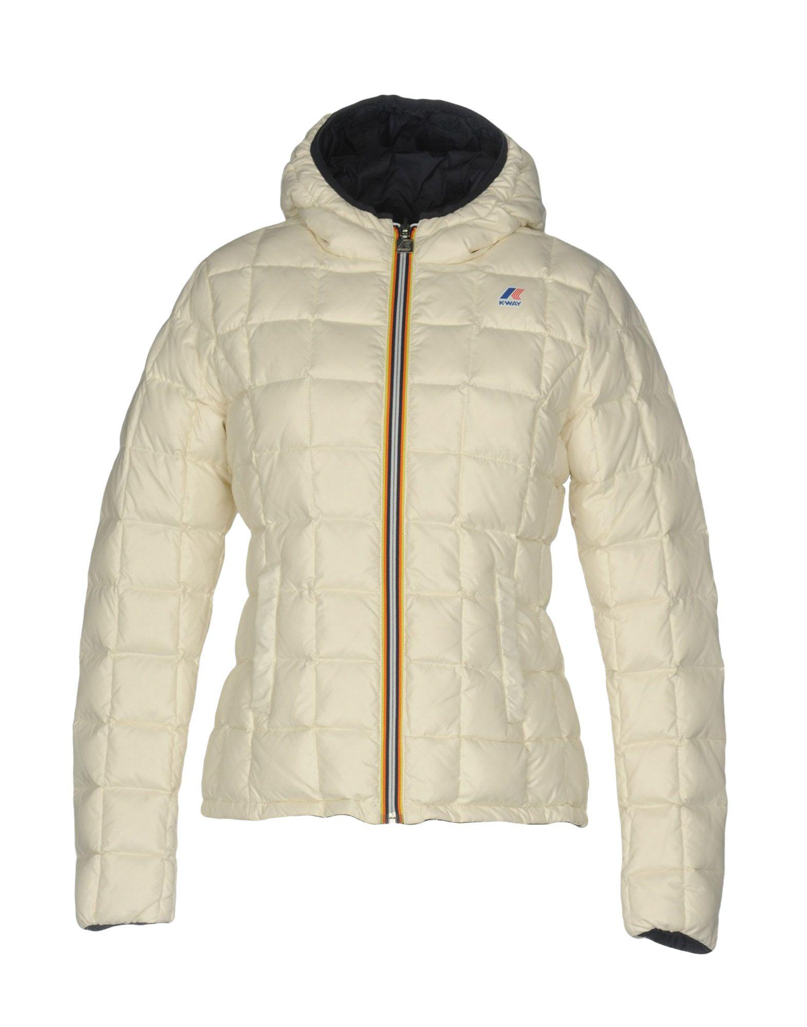 K-way Down Jackets In Ivory