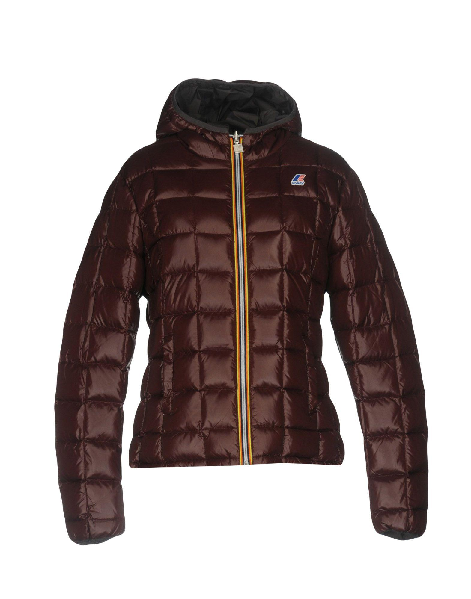 K-way Down Jackets In Cocoa