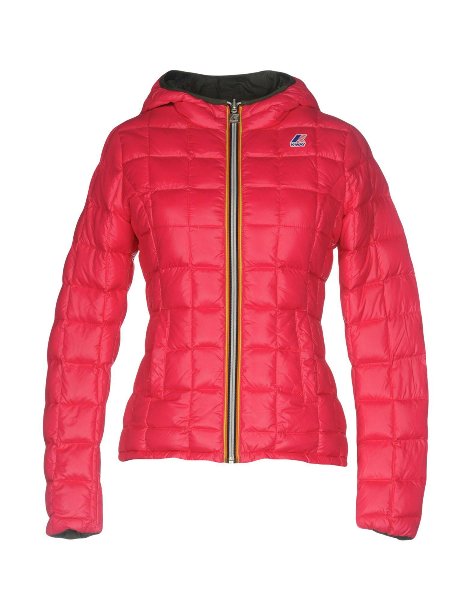 K-way Down Jackets In Fuchsia