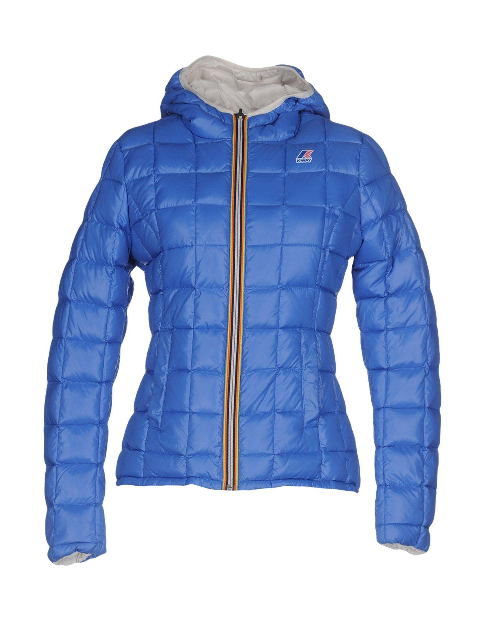 K-way Down Jackets In Azure