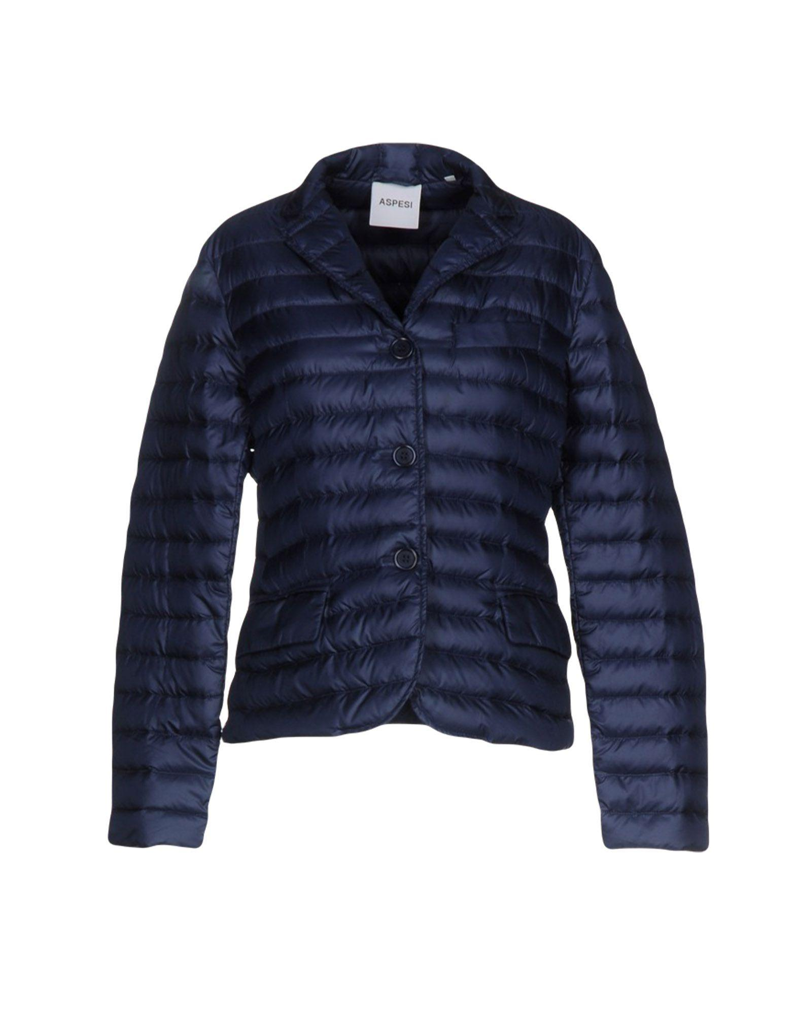 Aspesi Down Jacket In Dark Blue