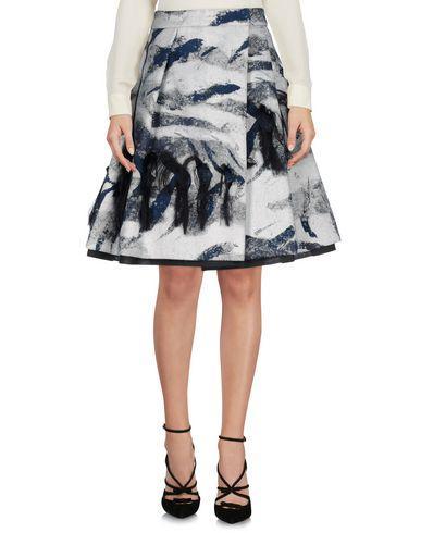 Pauw Knee Length Skirt In Light Grey