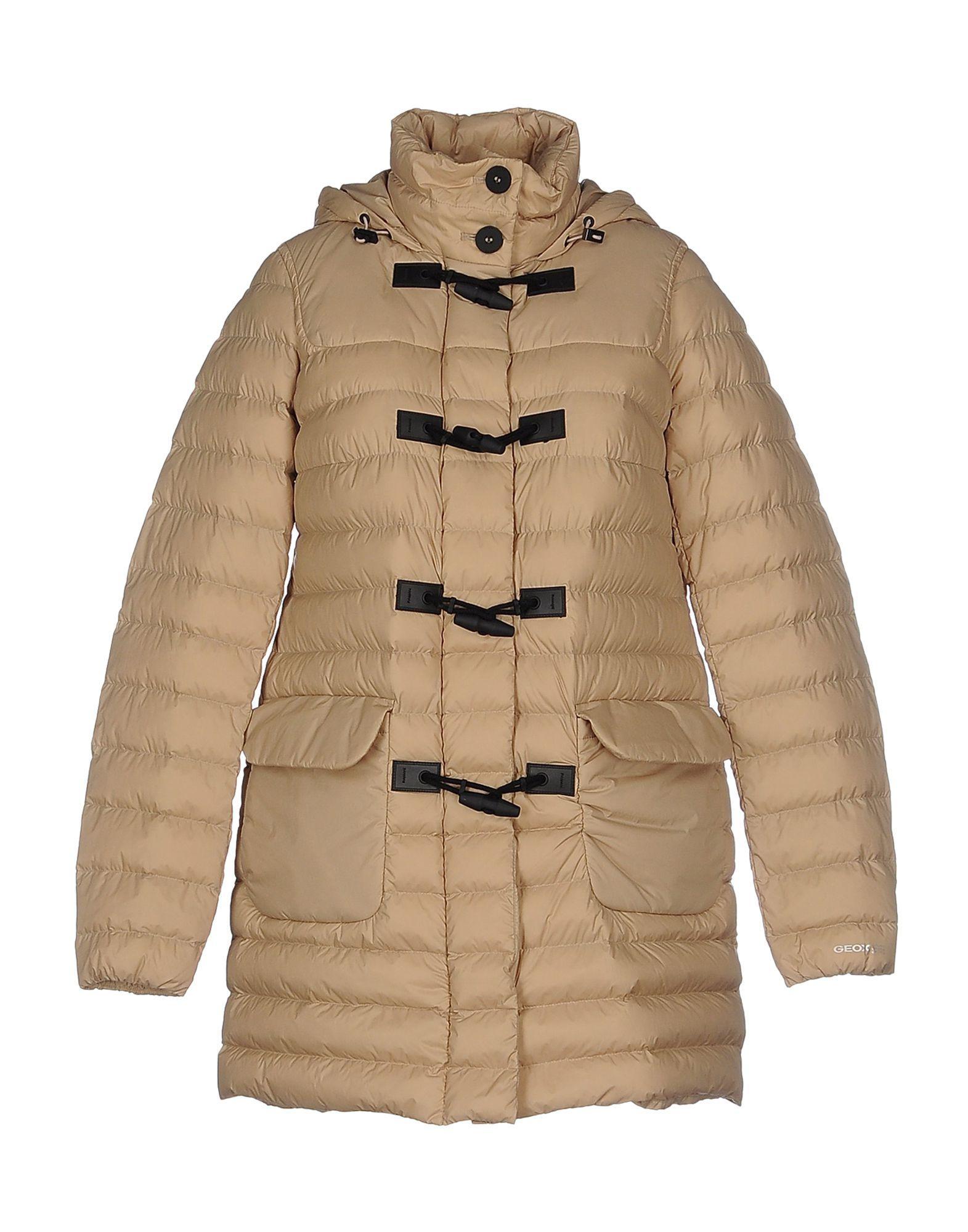 Geox Down Jacket In Beige
