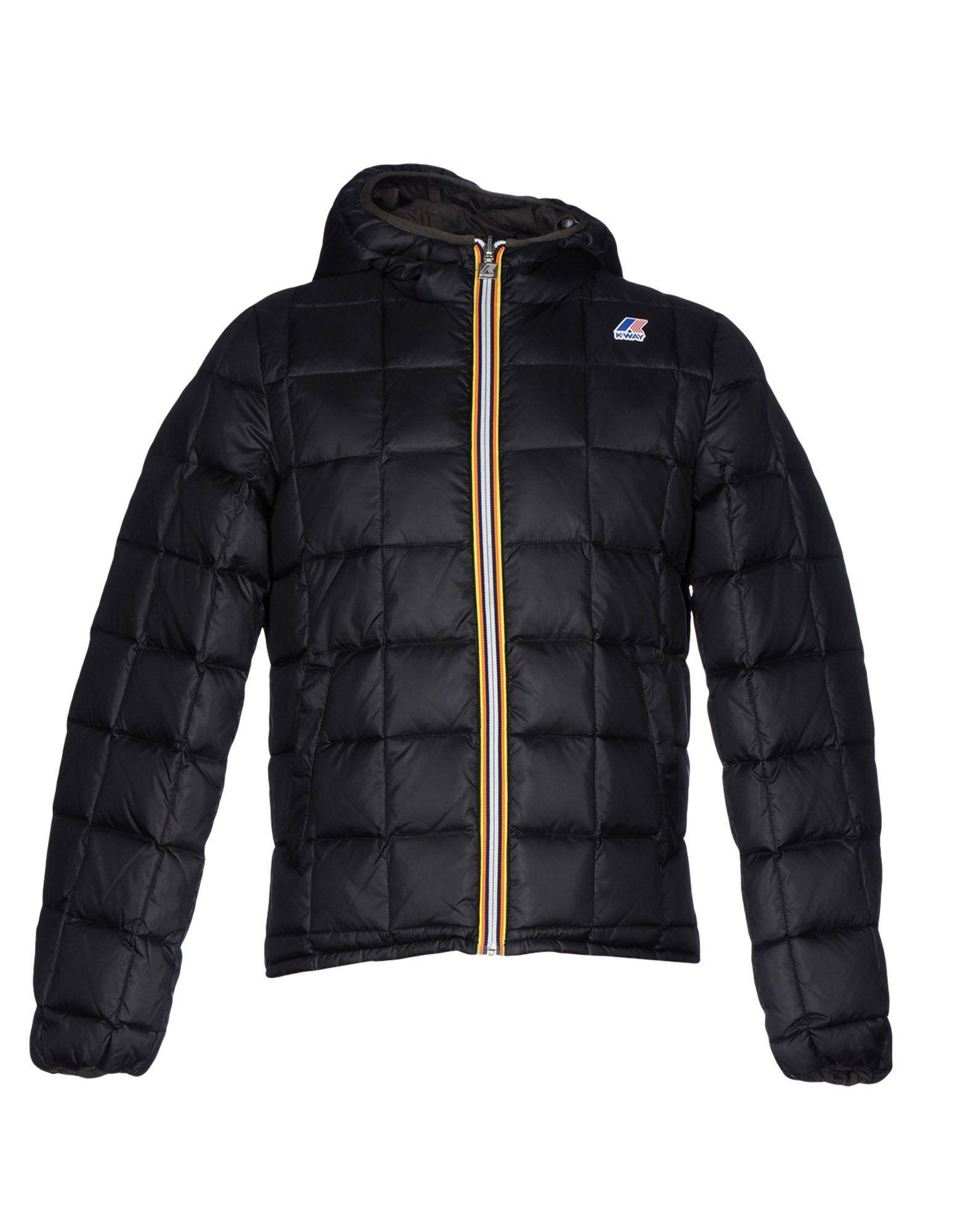 K-way Down Jacket In Black