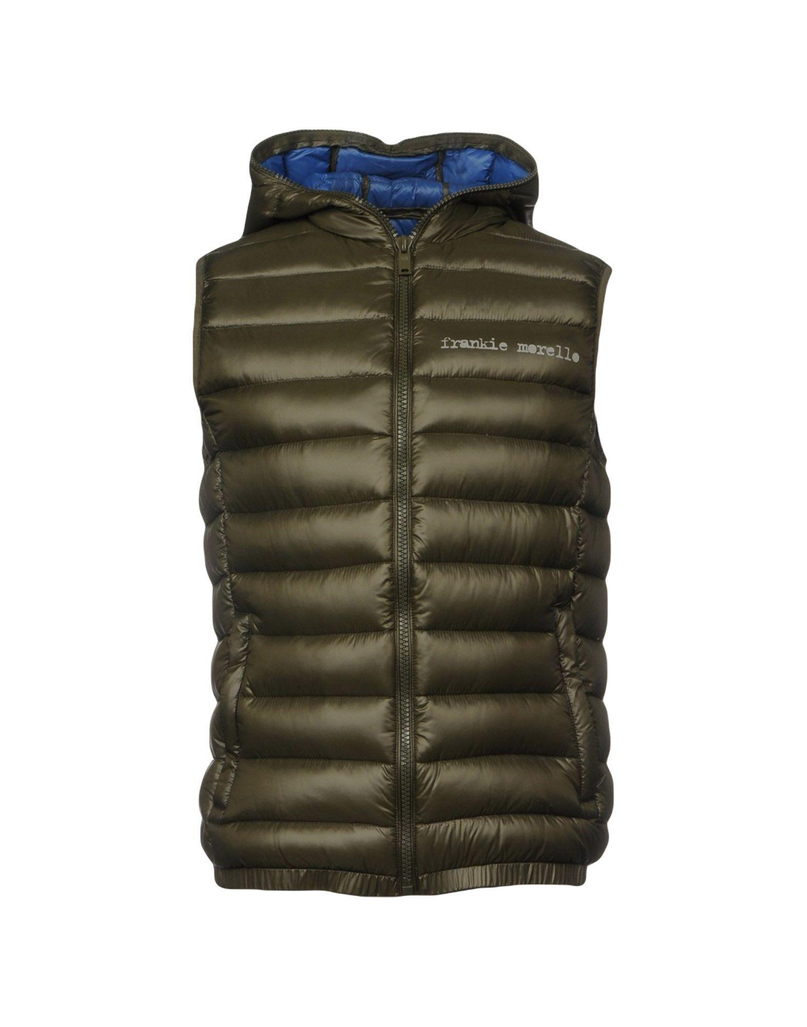 Frankie Morello Down Jacket In Military Green