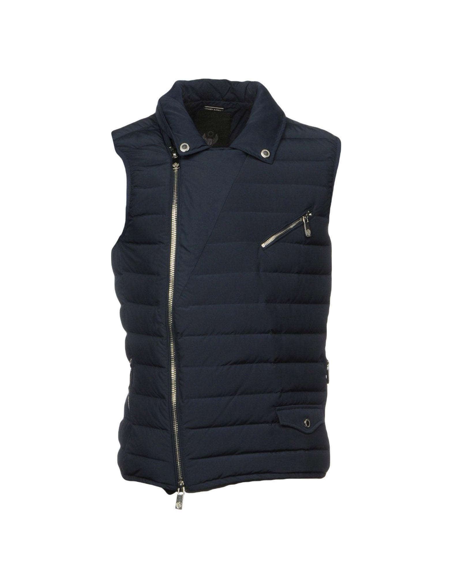 Frankie Morello Down Jackets In Dark Blue