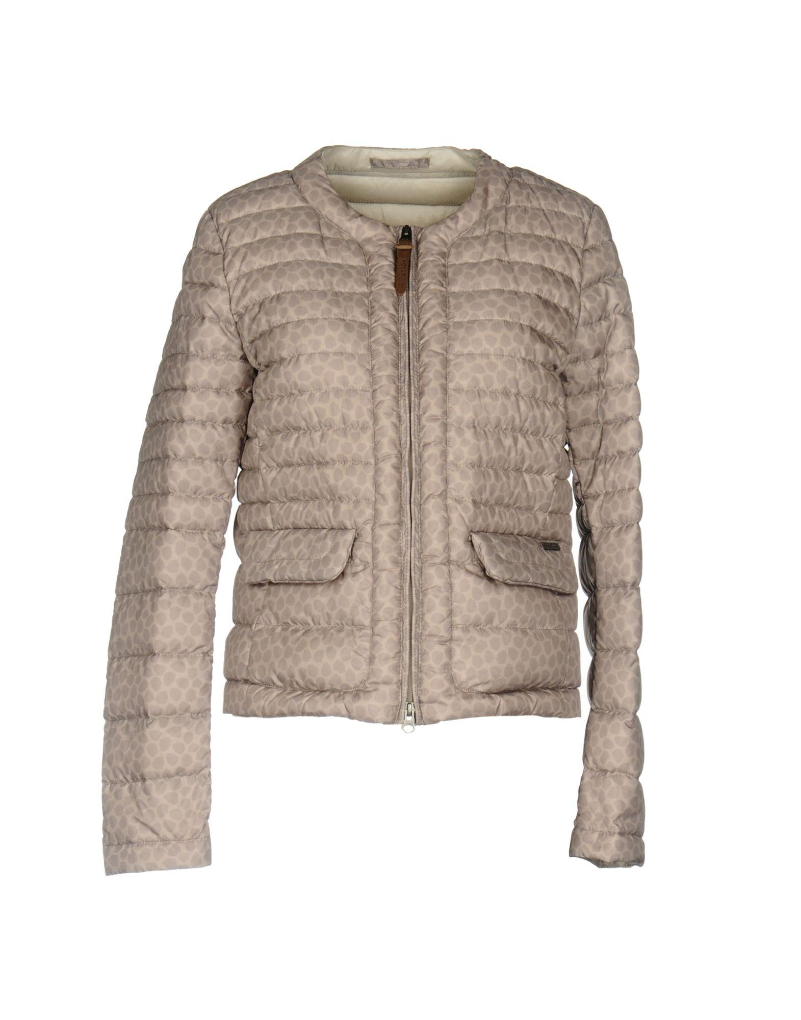 Woolrich Down Jackets In Khaki