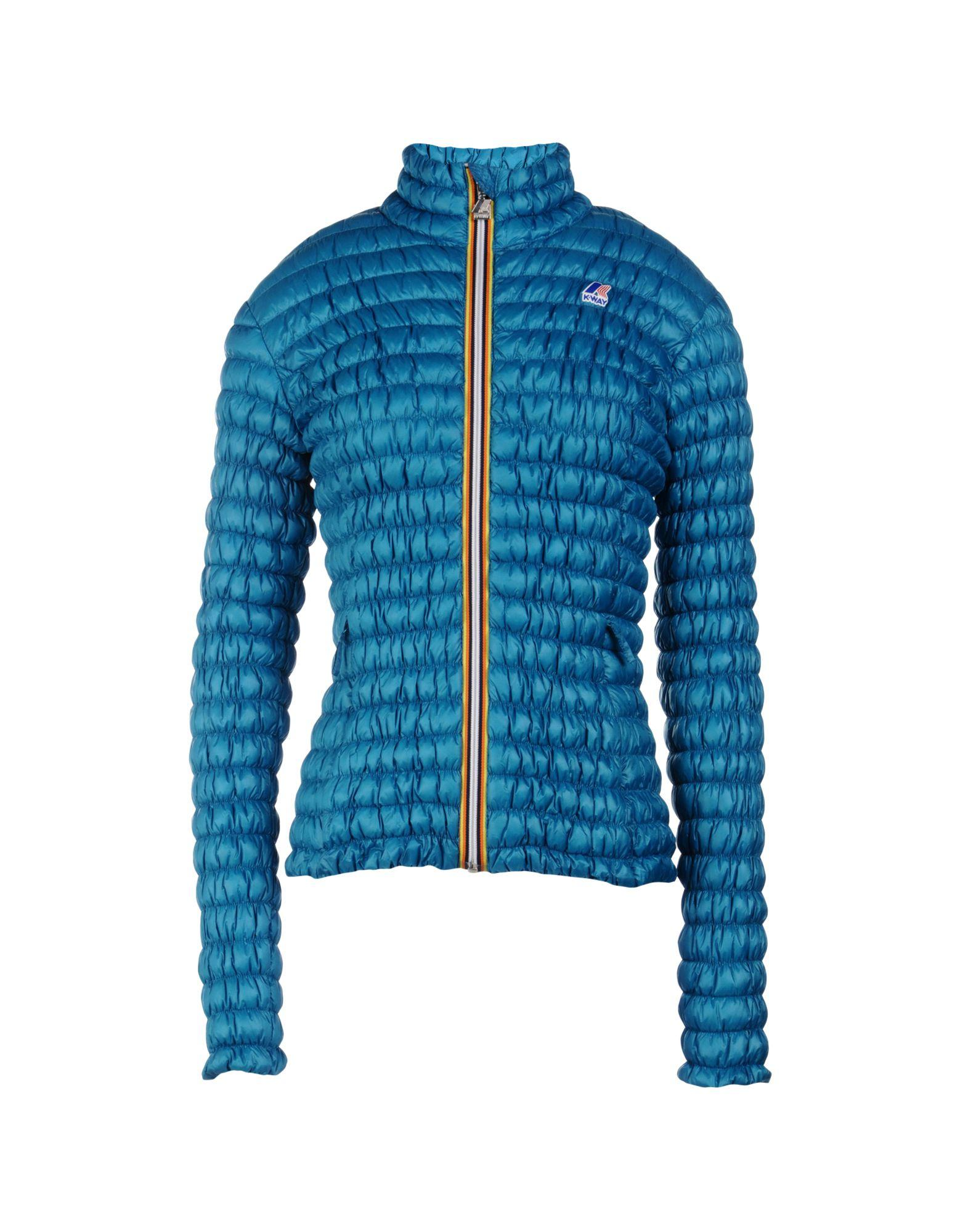 K-way Down Jacket In Turquoise