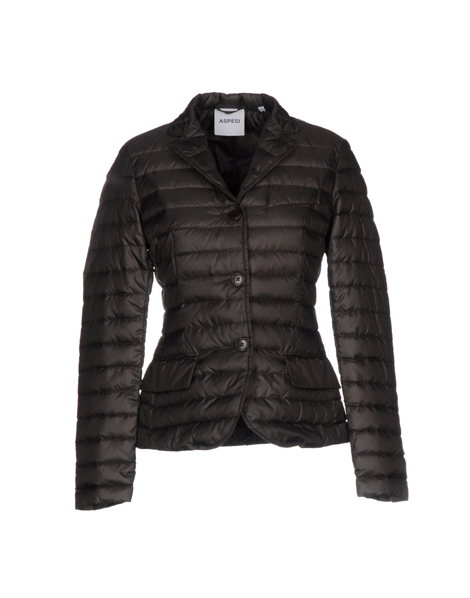 Aspesi Down Jackets In Dark Brown