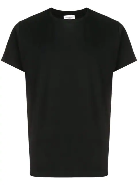 Saint Laurent T-shirt In Black Jersey Printed With Love 1974 In 1001 Black