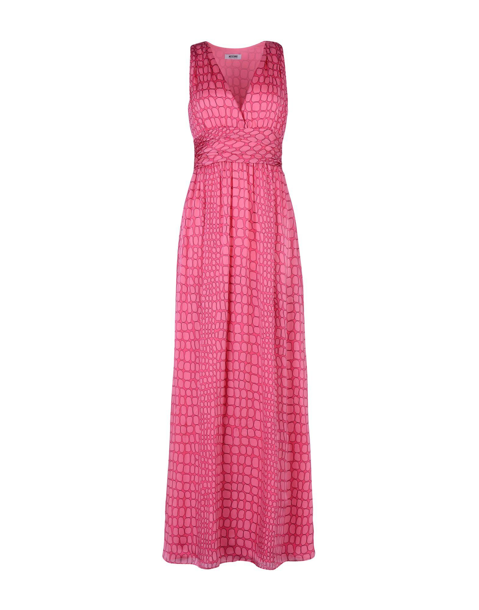 Moschino Cheap And Chic Long Dress In Fuchsia