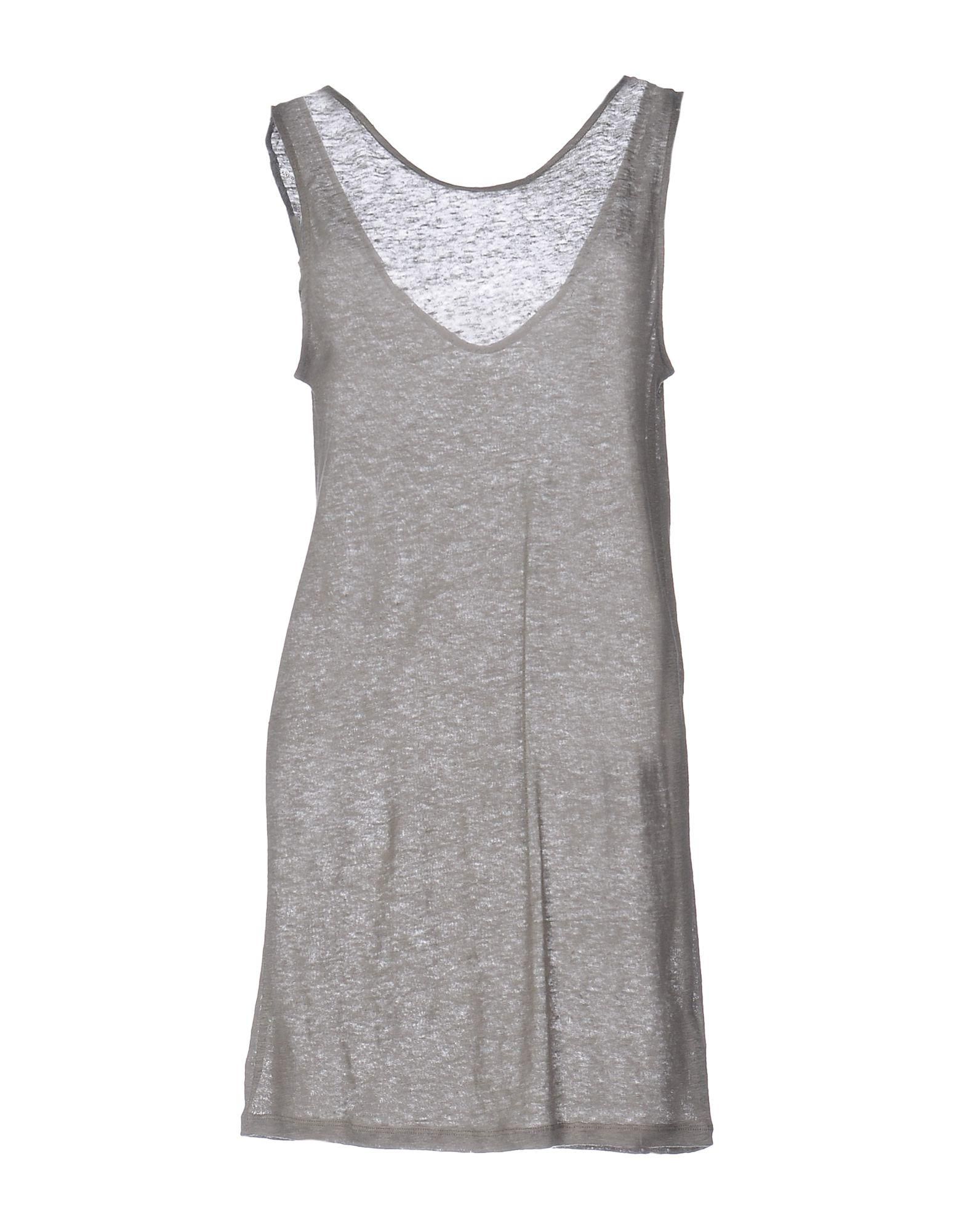 Majestic Short Dress In Grey