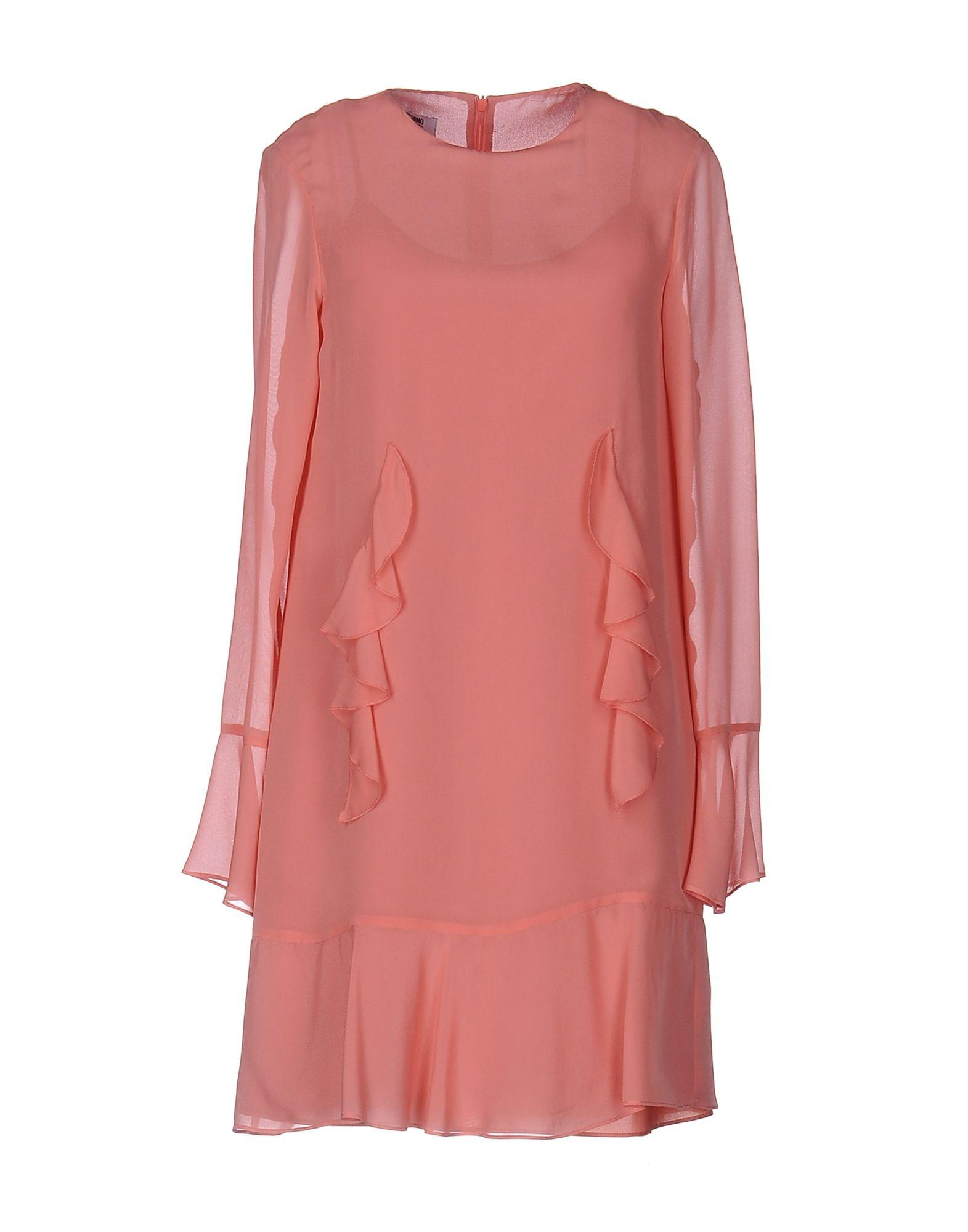 Moschino Cheap And Chic Short Dress In Pastel Pink