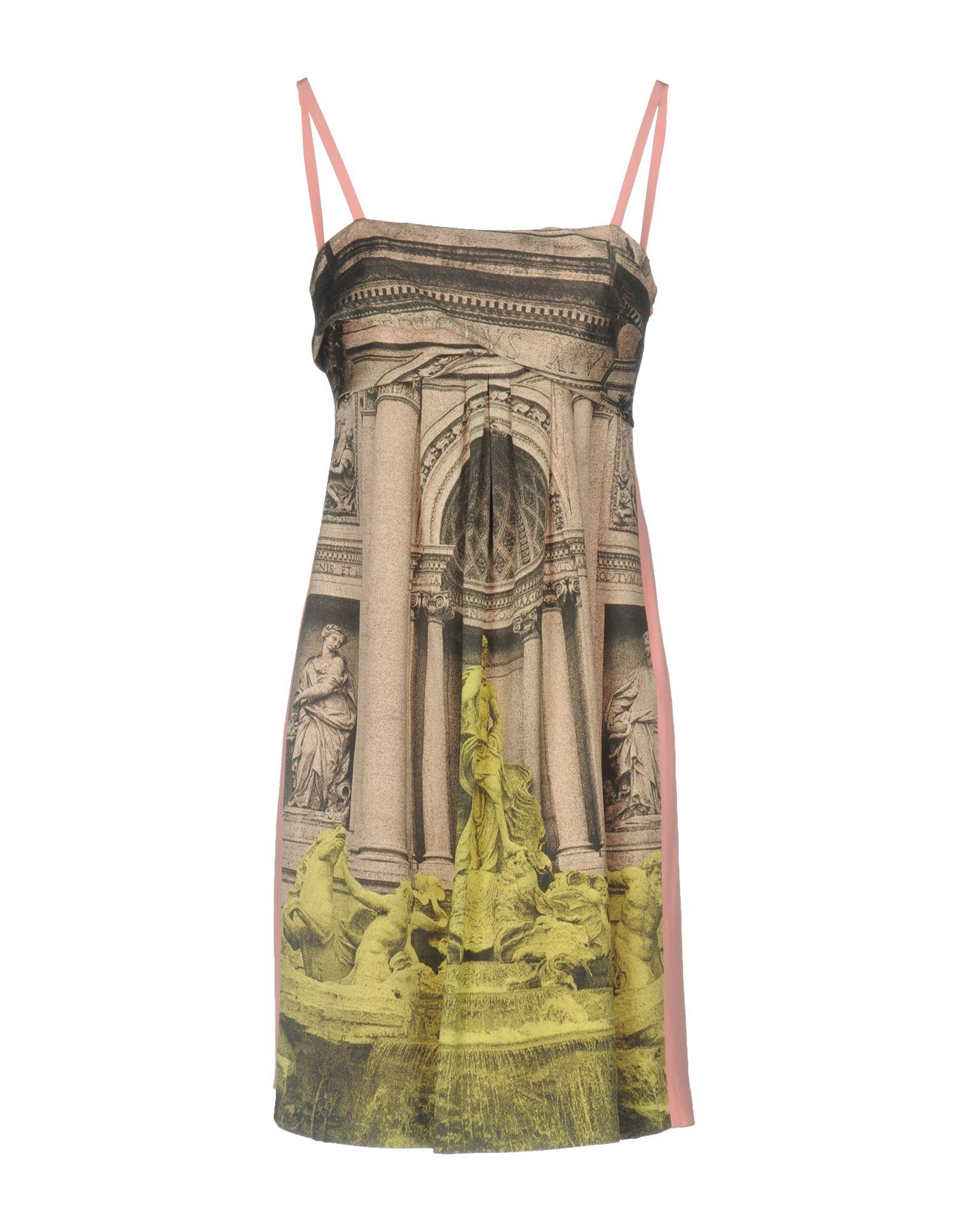 Moschino Cheap And Chic Short Dress In Sand