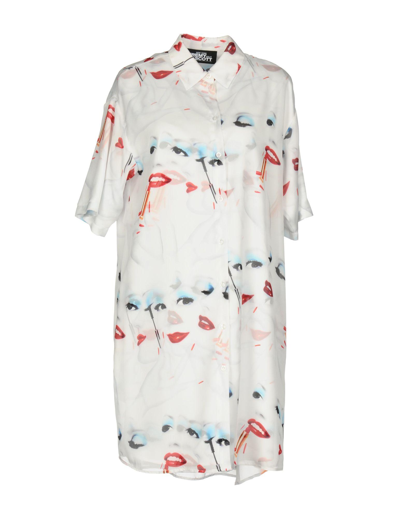 Jeremy Scott Shirt Dress In White