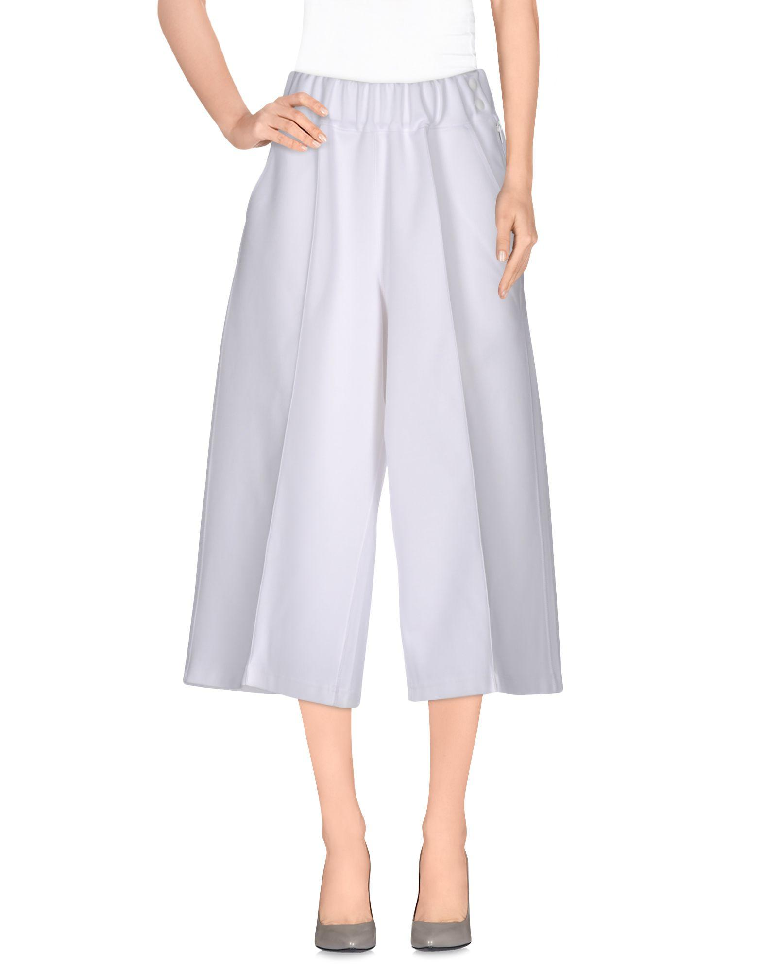 8b312b79a566 Adidas Originals By Hyke Cropped Pants   Culottes In White