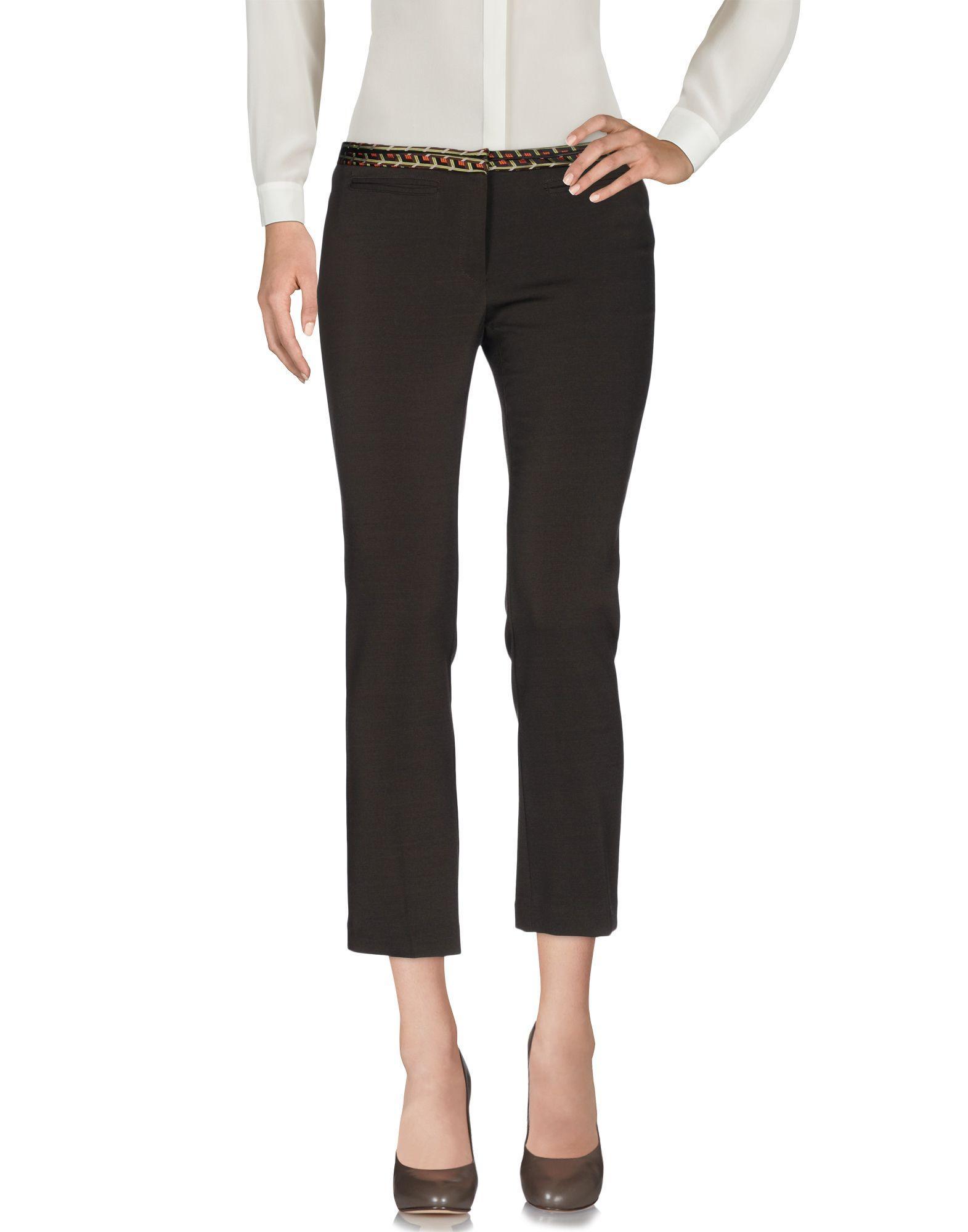 Teresa Dainelli Casual Pants In Dark Brown