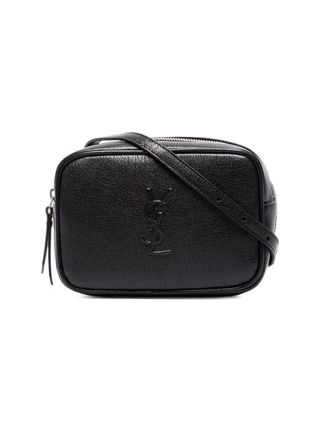 50e2644ee Saint Laurent Monogramme Lou Hip Belt With Pouch In Black In 1000 ...