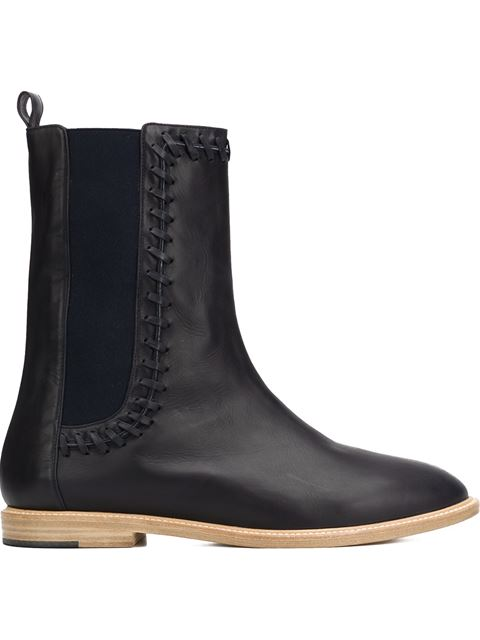 Maiyet 'Hazel Whipstitch' Ankle Boots In Dark Blue