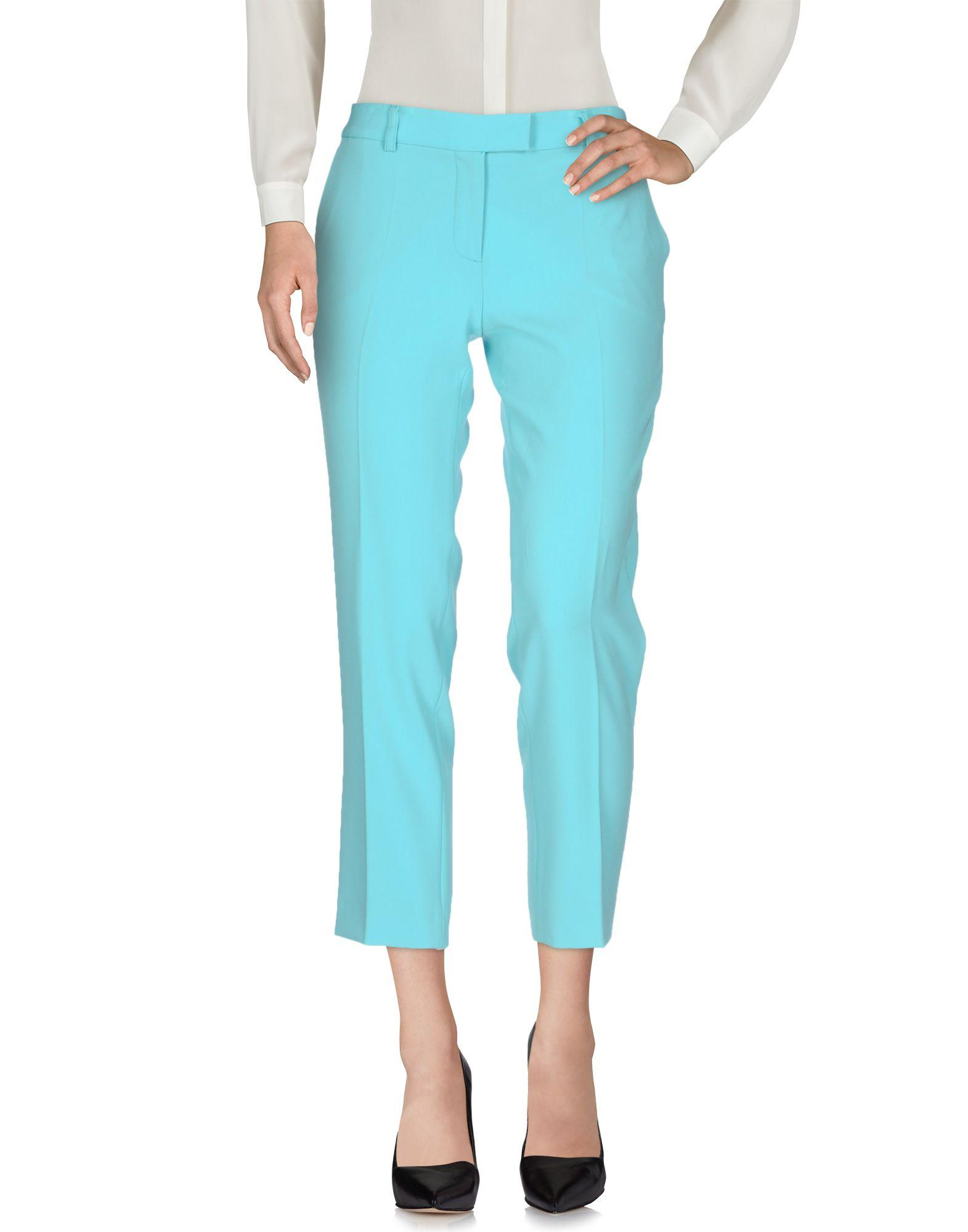 Moschino Cheap And Chic Casual Pants In Sky Blue