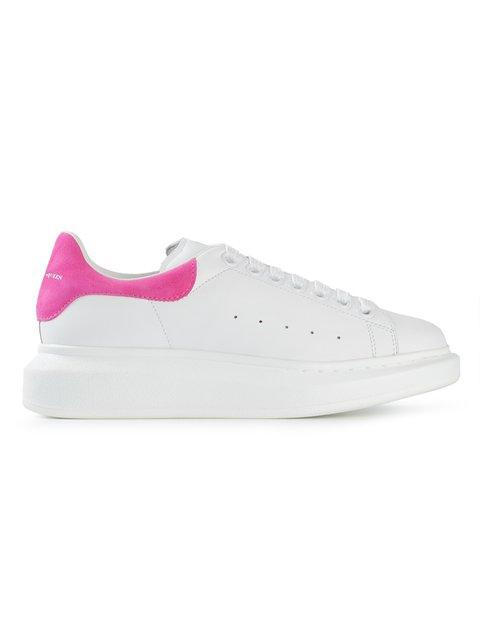 Alexander Mcqueen Chunky Sole White Sneakers In Pink