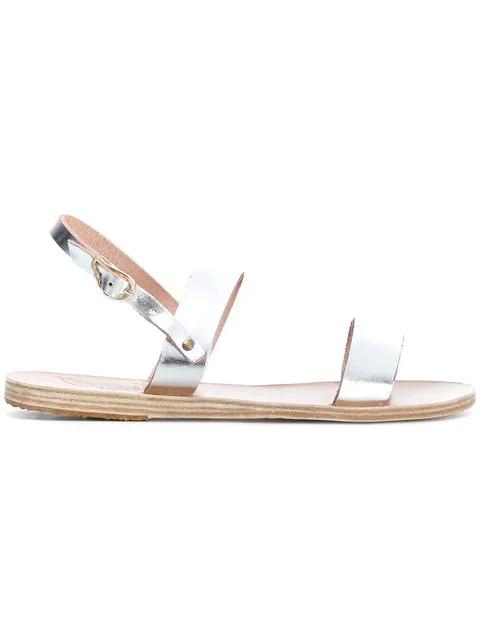 c73e6b65a15 Ancient Greek Sandals  Clio  Metallic Leather Sandals