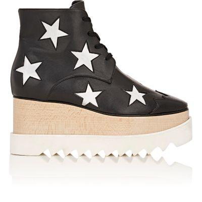 Stella Mccartney Black Zync Star Elyse Platform Shoes