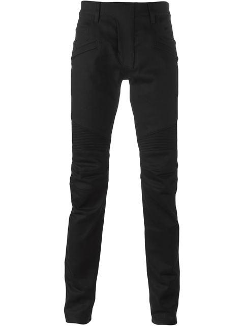 ca781ce0fd Balmain Biker Slim-Fit Skinny Stretch-Denim Jeans In Noir 176 | ModeSens