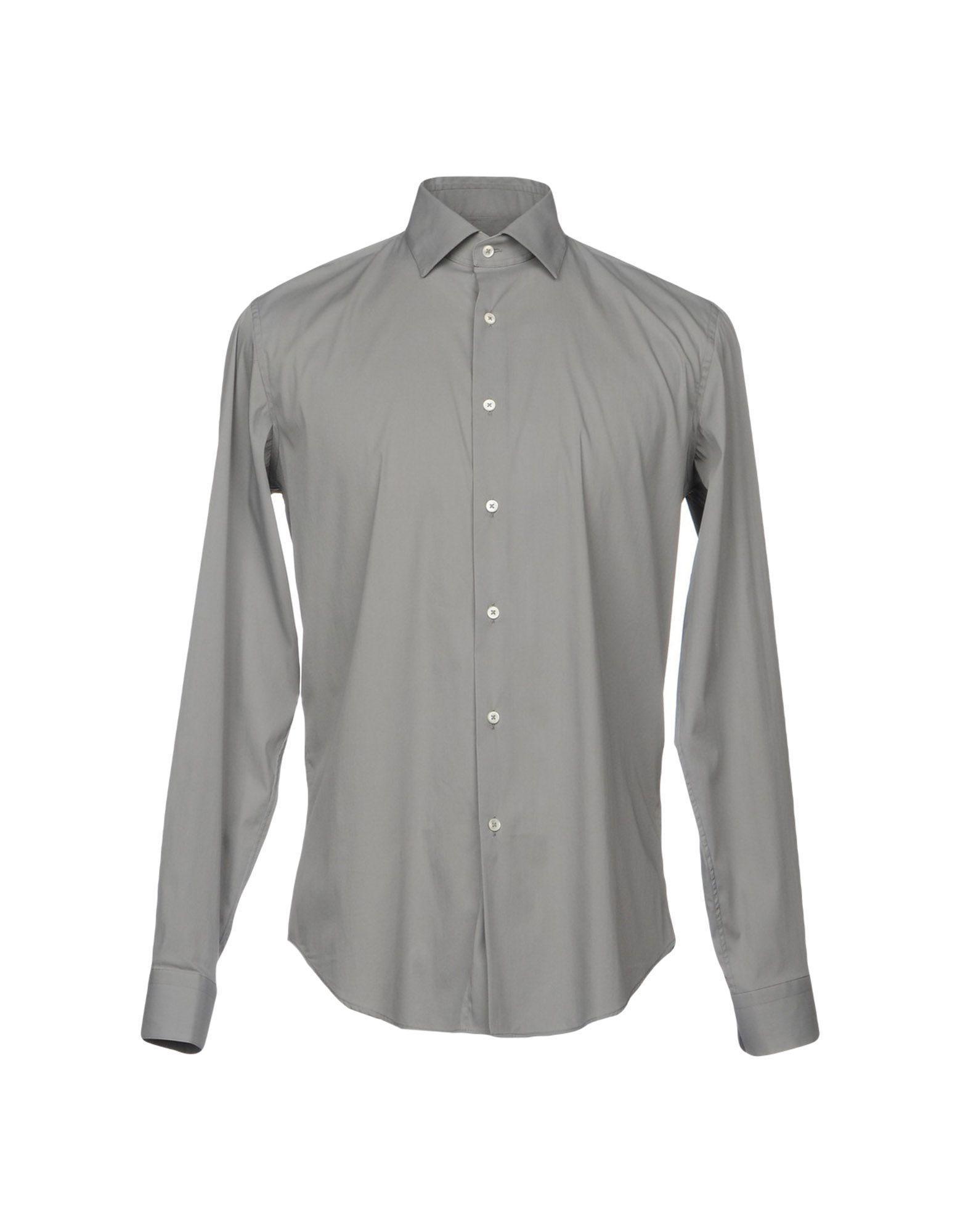 Robert Friedman Solid Color Shirt In Grey