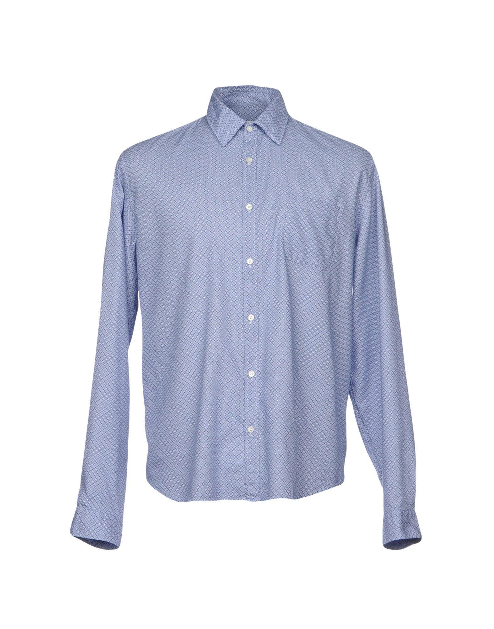 Robert Friedman Patterned Shirt In Blue