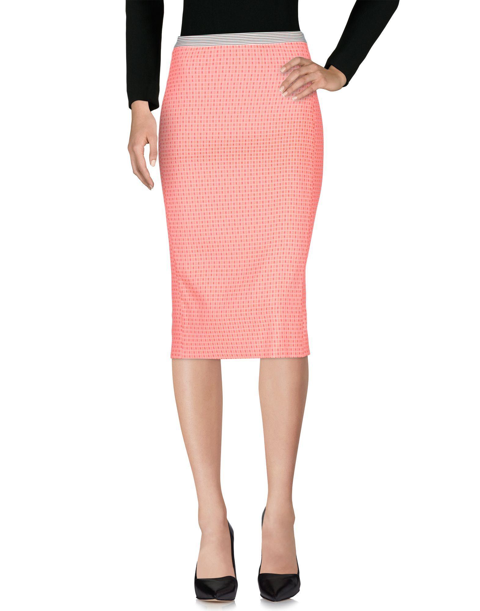 Teresa Dainelli Midi Skirts In Fuchsia