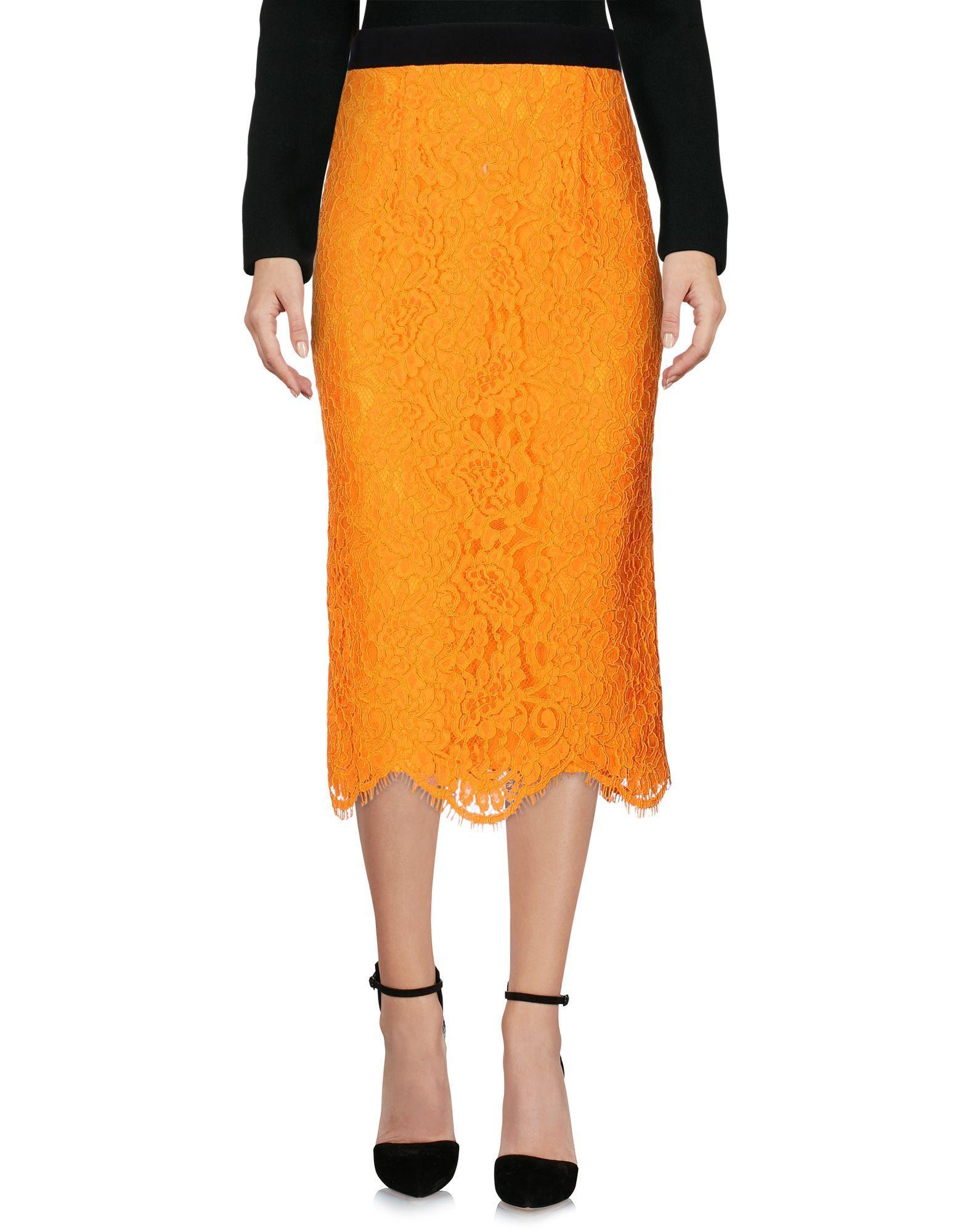 Marco Bologna Midi Skirts In Orange