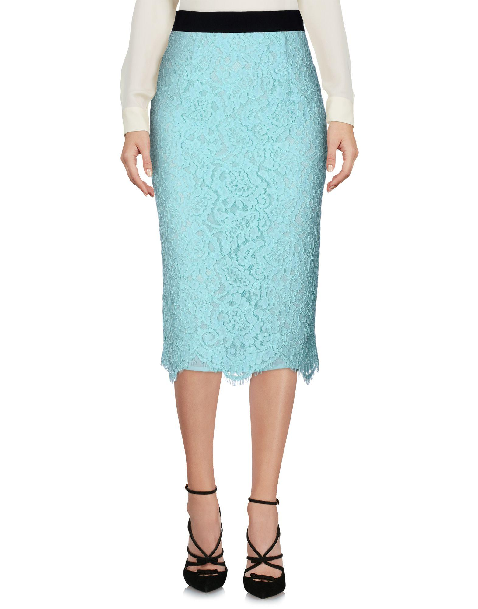 Marco Bologna Midi Skirts In Sky Blue