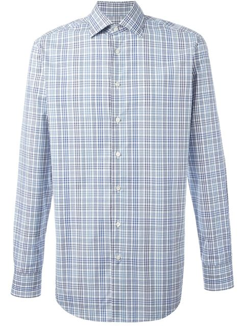 Etro Checked Cotton Shirt In Multi