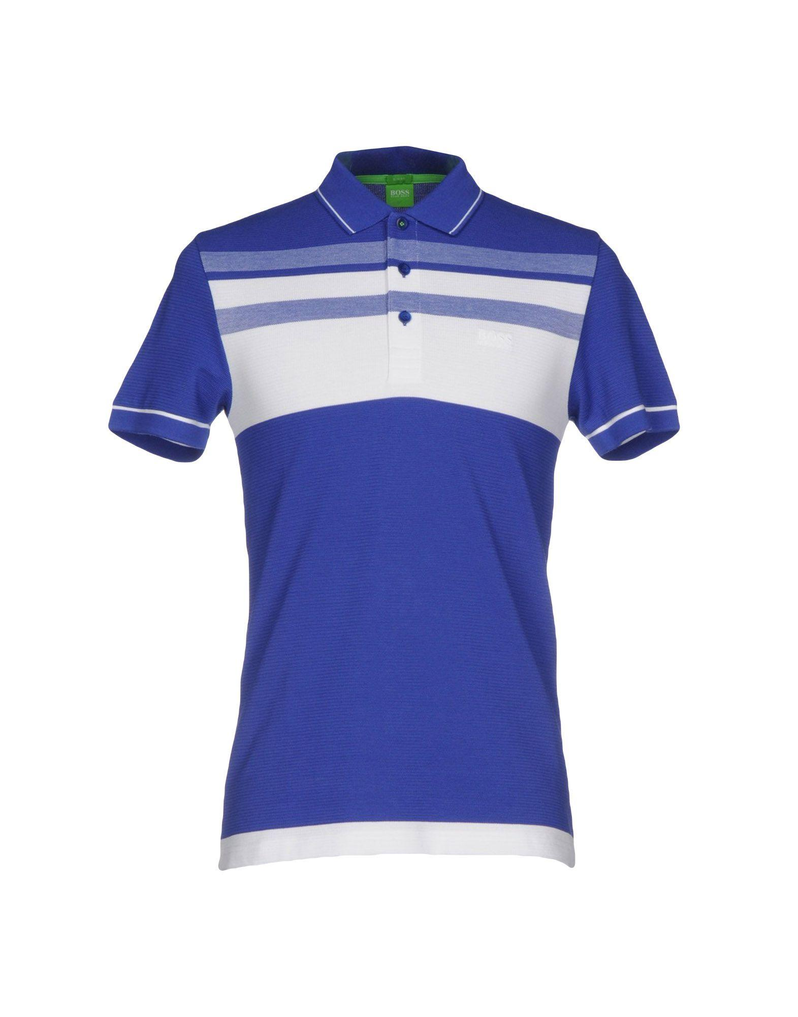 boss green polo shirts in blue modesens. Black Bedroom Furniture Sets. Home Design Ideas
