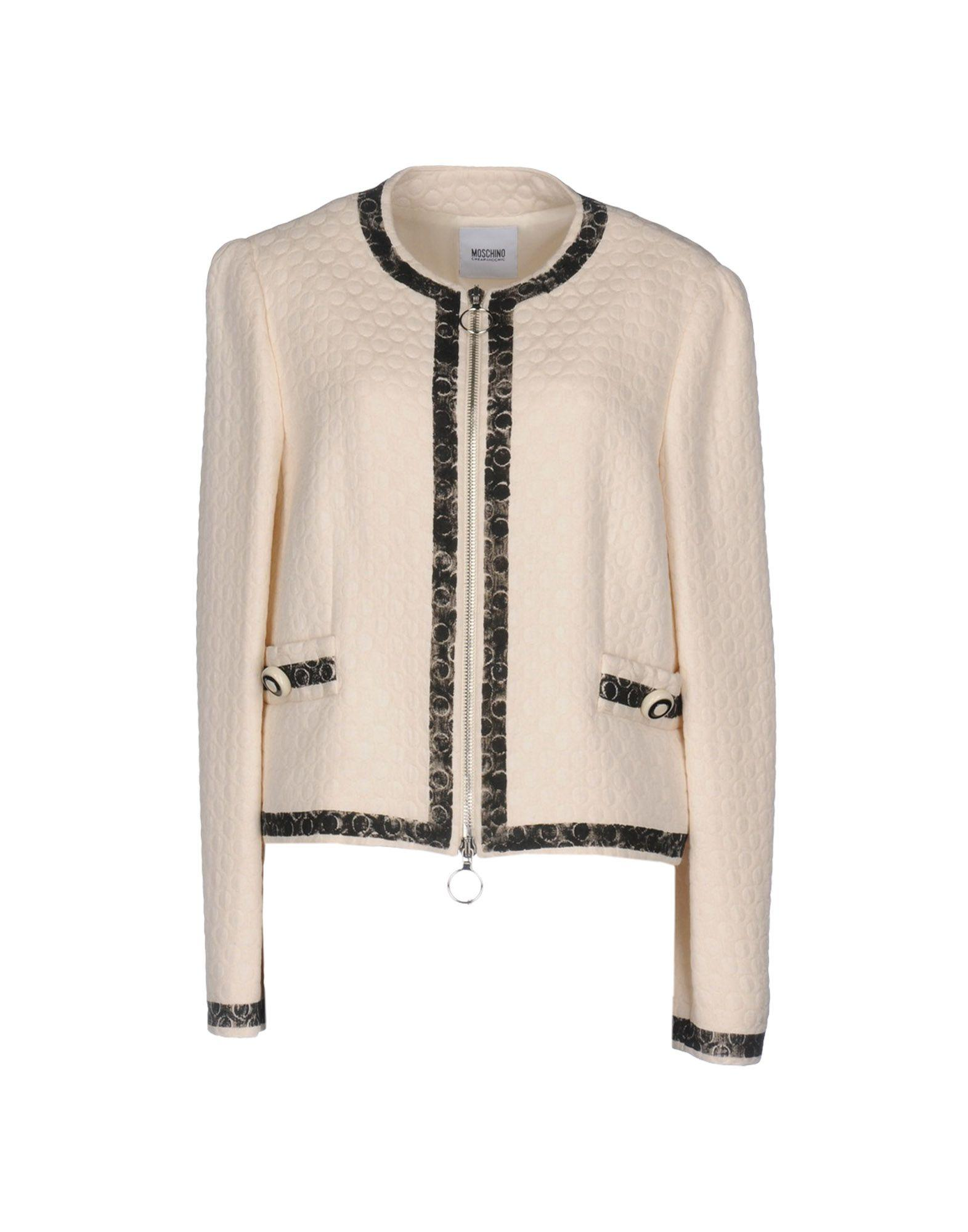 Moschino Cheap And Chic Blazer In Ivory