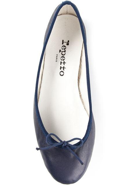 Repetto Cendrillon Leather Ballerina Flat In Blue