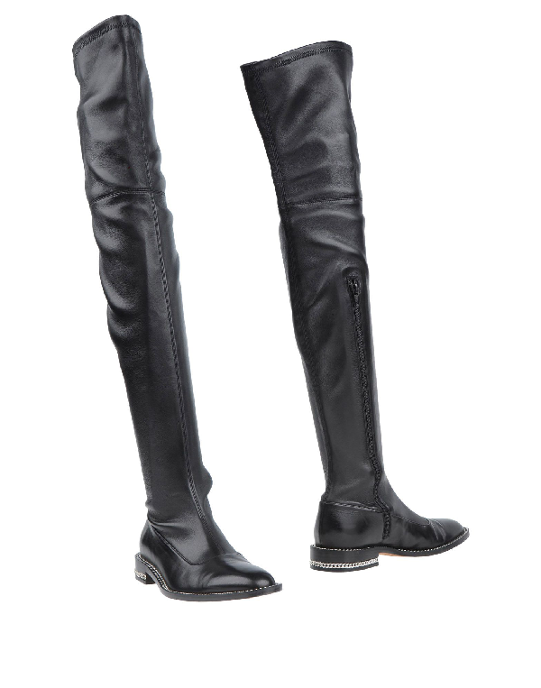 994074a27bd68 Givenchy Chain-Trimmed Stretch-Leather Over-The-Knee Boot, Black ...