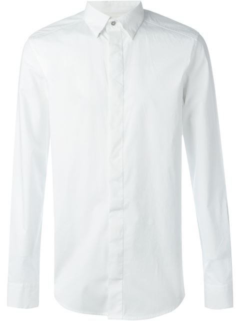 Diesel S-Nap Exposed-Button Cotton Shirt In 100 White